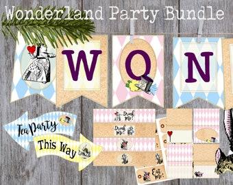 Wonderland Birthday Party Bundle