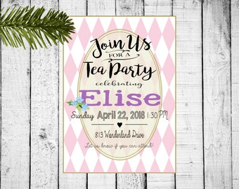 Wonderland Tea Party Invite