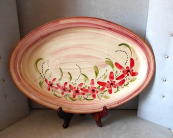large dish of service / ceramics of Vallauris / south of France