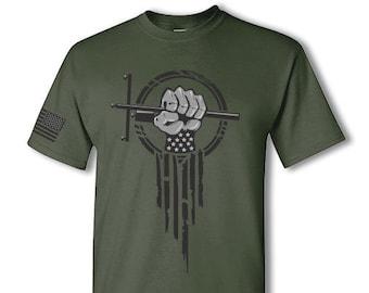 Lineman Hero short sleeve t-shirt - telecom lineman power line superhero tee shirt - patriotic telecom lineworker short sleeve t shirt