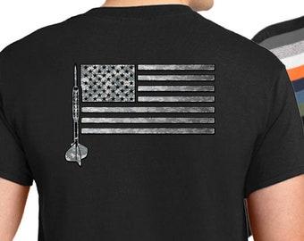 b5e925b85 USA Darts Flag T-Shirt - American darts shirt