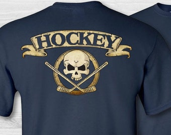 3D Printed T-Shirts Hockey Mask Sticks and Puck On A Ice Rink Short Sleeve Tops Tees