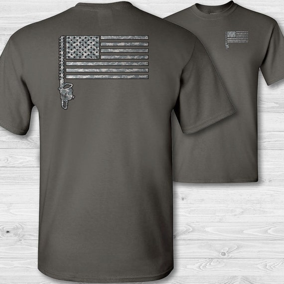 Landscaper American Flag Hooded Sweatshirt landscaping Hedge Trimmer Camouflage USA Flag Hoodie Gift