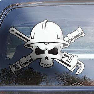 landscaping contractor maintenance sticker Landscaper Skull Crossbones Decal