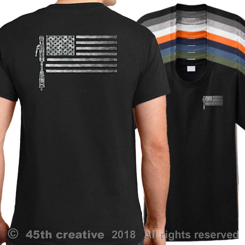 3b397b2f USA Welder Flag T-shirt American flag welders shirt usa | Etsy