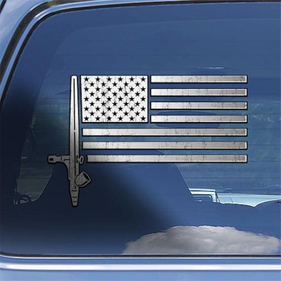Mechanic superhero decal American flag auto repair mechanic toolbox car sticker