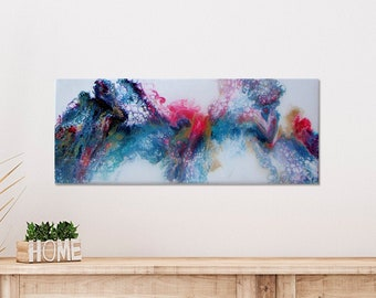Bright and colorful original abstract art on canvas, Acrylic cell art, Abstract dutch painting, Fluid artwork, Splashes of color