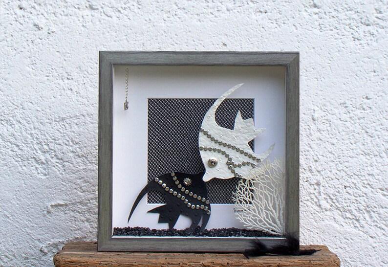Fish Art for Beach decor Wonder Coastal Art Romantic Gift image 0