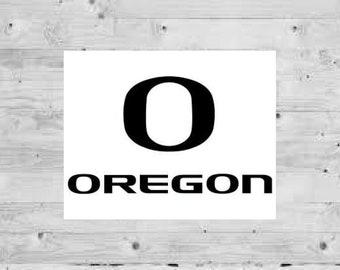 SINGLE Oregon Ducks Cornhole Wrap Skin Decal Vinyl NCAA Logo Board DT213
