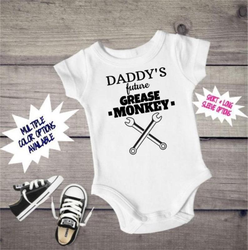 1f8c130a1 Daddy's Future Grease Monkey Onesie Baby Onesie Mechanic   Etsy