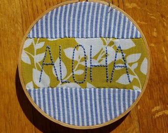 Aloha! Embroidery Hoop