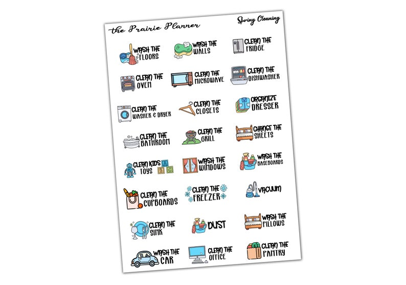 Spring Cleaning  Planner Stickers image 0