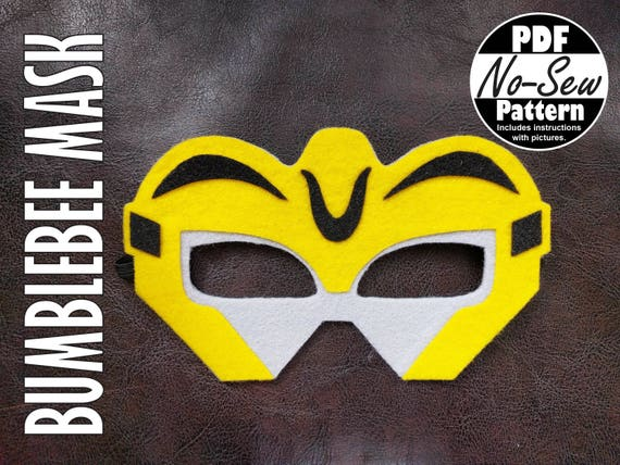 Bumblebee Rescue Bots No Sew Mask Pattern Party