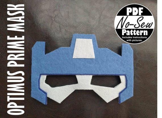 Optimus Prime Rescue Bots No Sew Mask Pattern