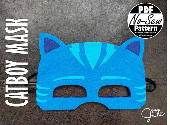 catboy no sew mask pattern costume pj masks party favor etsy