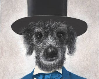 """Custom Portrait of Your Pet as Abraham Lincoln, 16 x 20"""""""