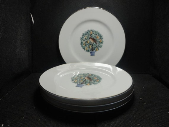 Sale Avonthe Twelve Days Of Christmas Dessert Plates Set Of Etsy