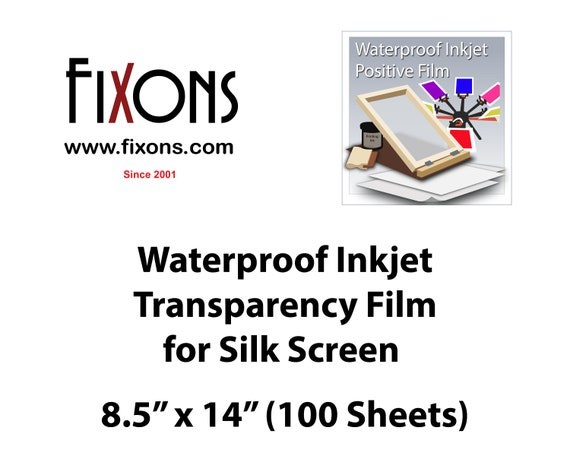 waterproof inkjet positive film designed for screen printers etsy