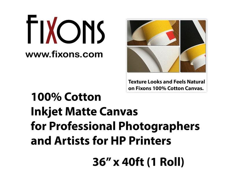 "Cotton Canvas Matte for Epson Printer 17/"" x 40/' 1 Roll"
