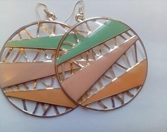 Lizella patterned earrings
