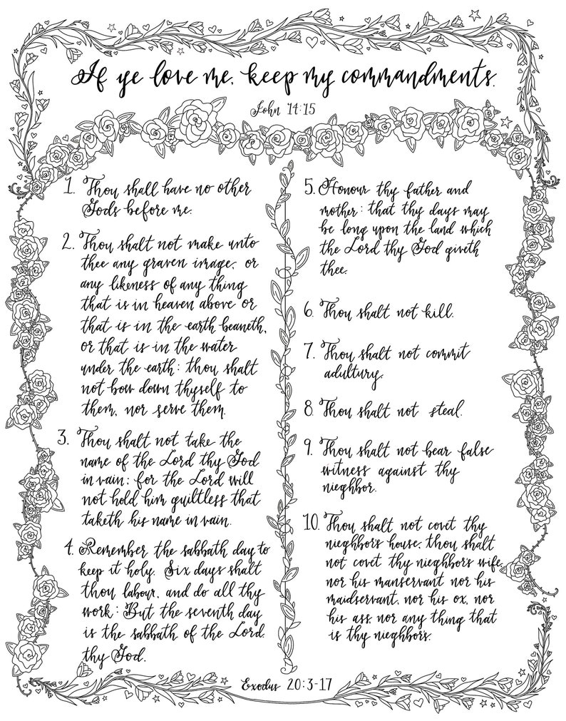 photo about Ten Commandments Printable Activities identified as Printable Coloring Webpages- The 10 Commandments