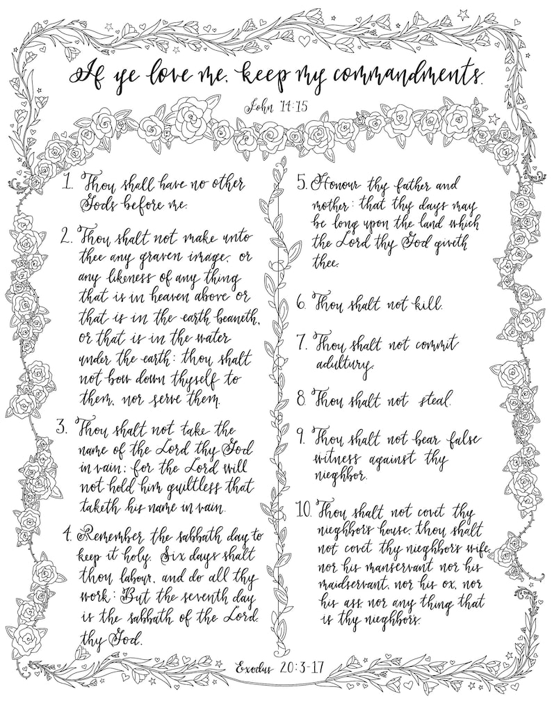 picture about Ten Commandments Printable Activities called Printable Coloring Internet pages- The 10 Commandments