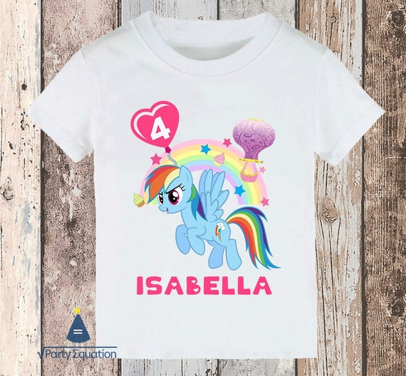 Personalized Little Pony Rainbow Dash Birthday Party T Shirt