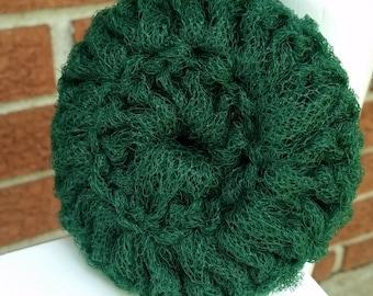 Crochet Dark Green Kitchen Scrubbie