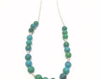 Handmade Chrysocolla necklace