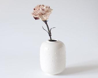 White Flower Vase Etsy