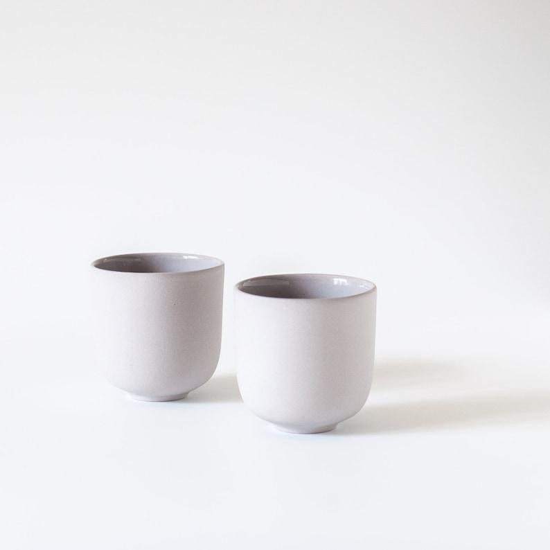 d8e5941f350 Modern espresso cup handmade, Pastel matte porcelain, Minimalist coffee  set, Small cup 3.5 oz no handle, Gift idea