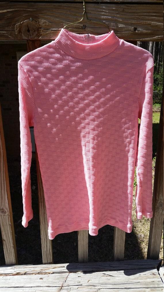 Vintage pink polyester top