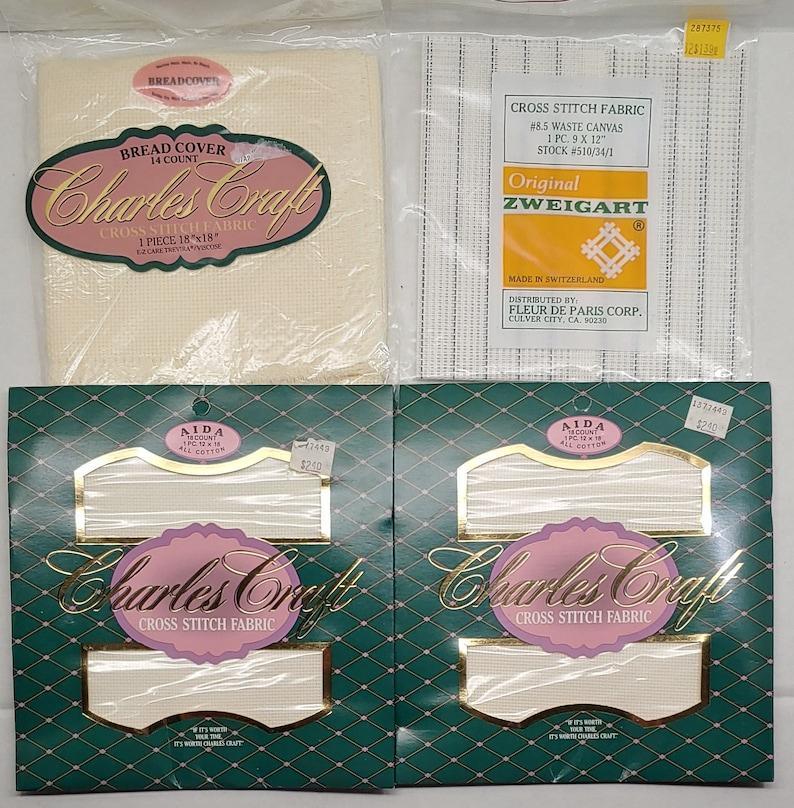 Aida Fabric 4 Pack Assortment Cross Stitch Fabric
