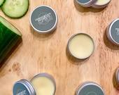 Aloe Vera Cucumber Lip Balm, Natural, Organic Coconut Oil, 15ml, Moisturising, Soothing, Plumping, Subtle Scents, Gift, Zero Plastic,