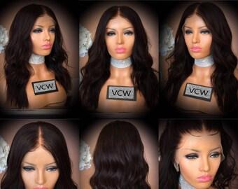 Beautiful 100% Brazilian Human Hair Lace Wig