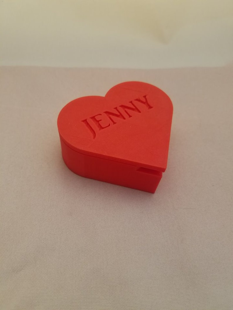 Valentine Heart Box Unique Gift Jewelry Box Valentine/'s Day Gift Trinket Box Gift for Her Personalized Heart Shaped Box