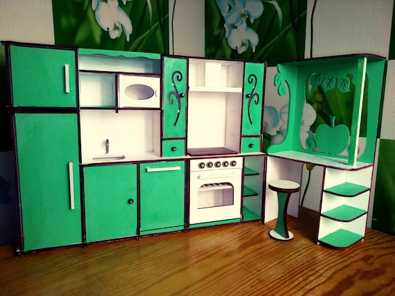 Beautiful Kitchen Set For Barbie Kitchen Set For 12 Inch Doll Etsy