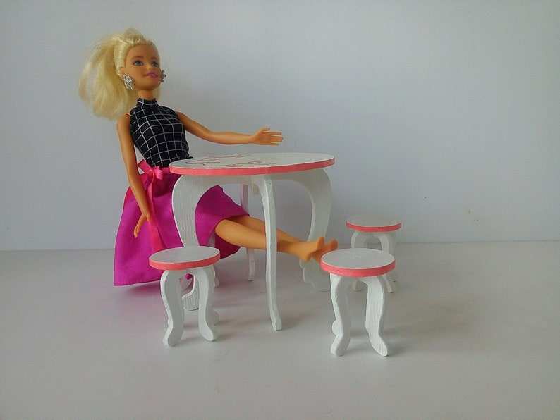 Barbie Coffee Set Barbie Furniture Table And Chairs For The Etsy