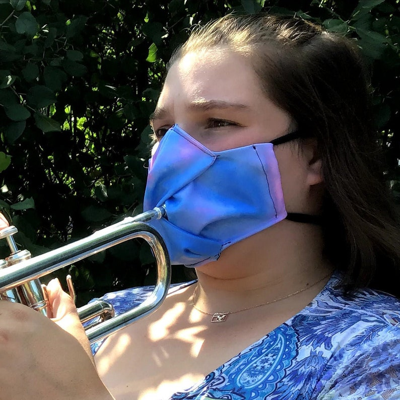 Fitted Face Mask Face Mask with Slit Mask for Trumpet image 1