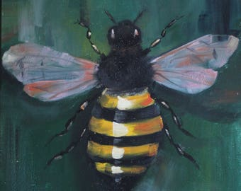 Original Oil Painting - Honey Bee 11 x 14