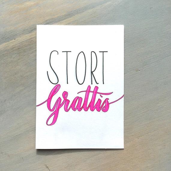 grattiskort com grattis kort grattiskort stort grattis Swedish birthday | Etsy grattiskort com