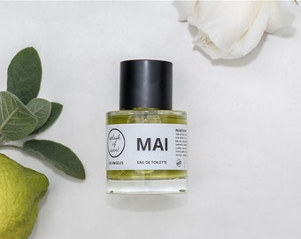 Natural, vegan, green floral perfume: MAI
