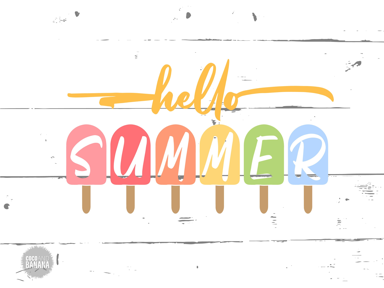 Hello Summer svg, Hello Summer Popsicle svg, Summer svg