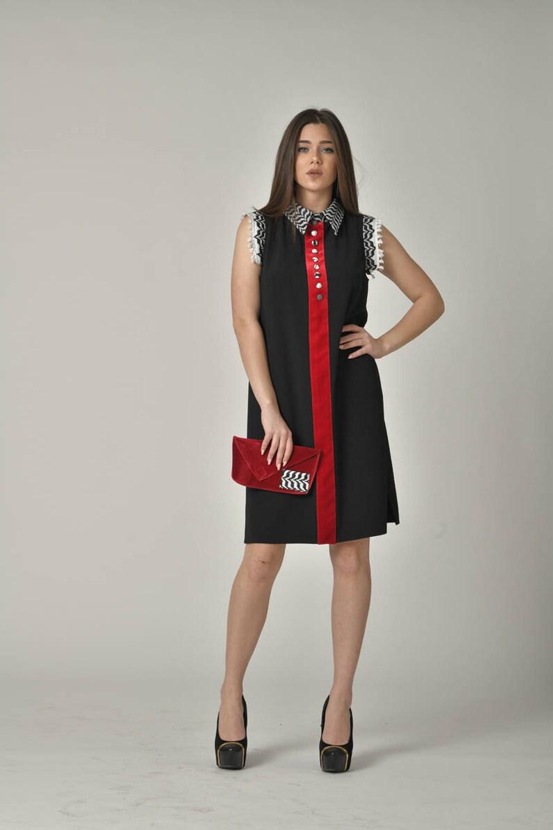 e4b59198d07 Little Black Dress / Stylish High Nick Midi Dress / Party Designer Comfy  Dress / Casual Loose Flowy Dresses / Summer Street Style Wear