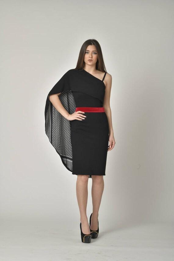 PLUS SIZE Midi Designer Little Black Dress / Stylish Bodycon Pencil Party  Dresses / Formal Evening Wear / Women Body Flattering Clothing