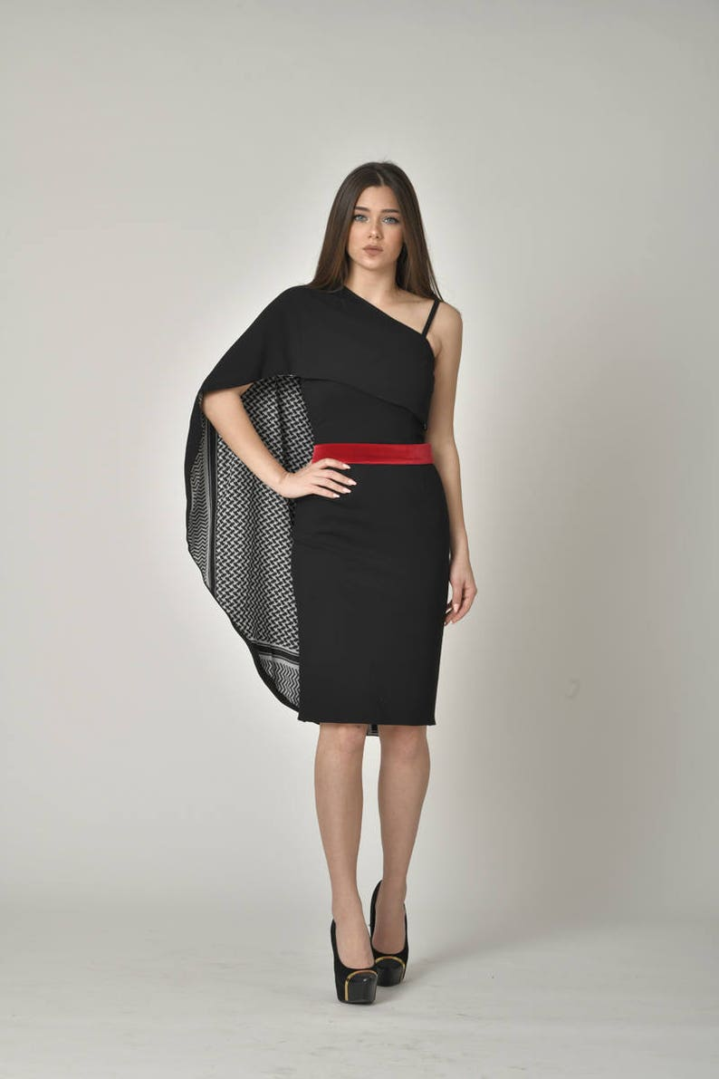 PLUS SIZE Midi Designer Little Black Dress / Stylish Bodycon | Etsy