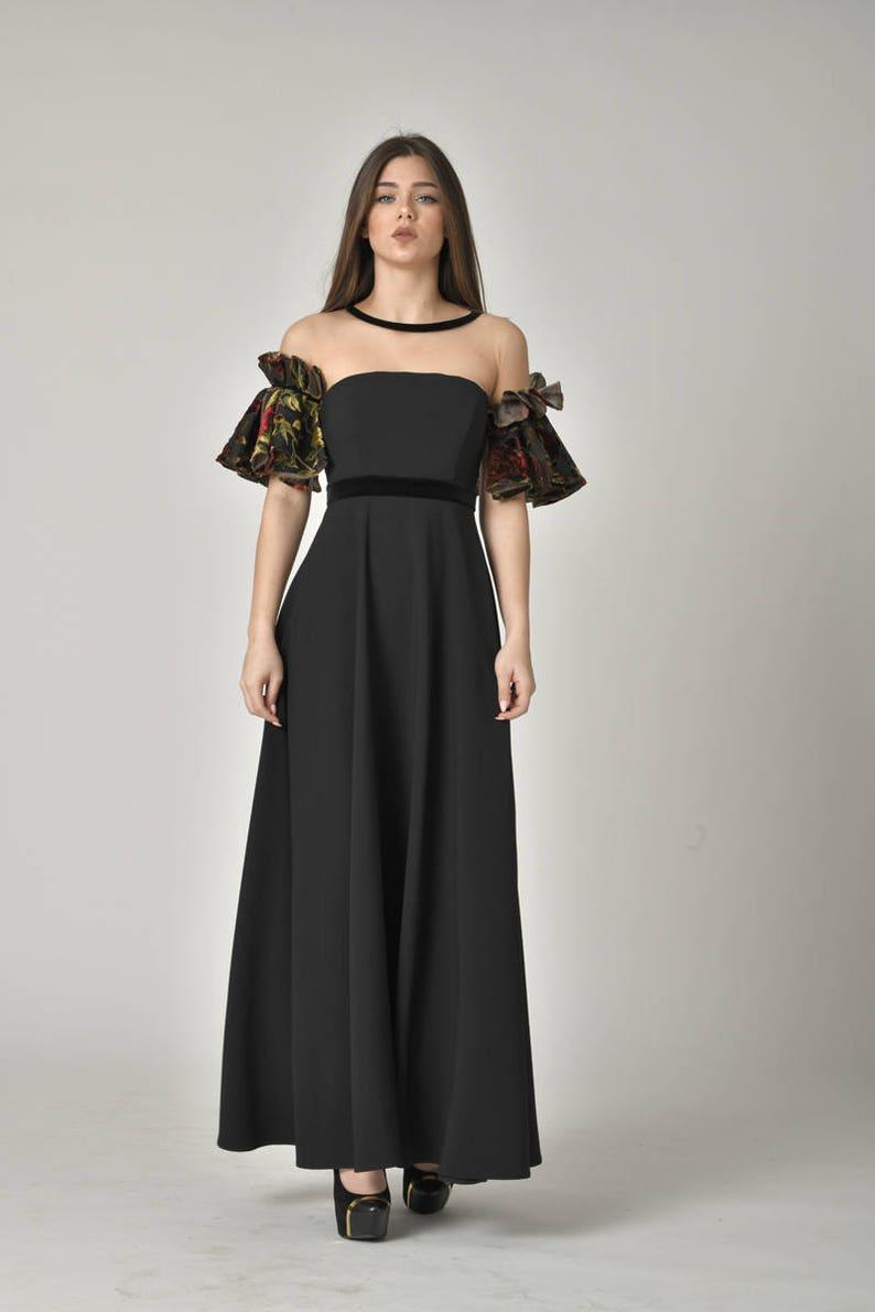 PLUS SIZE Evening Vintage Style Gown/ Formal Off Shoulder | Etsy