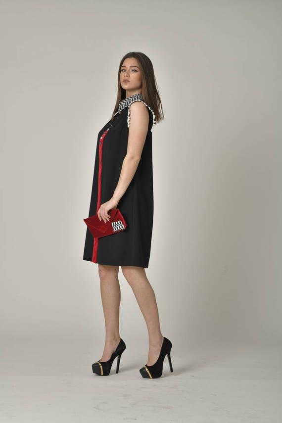 Loose Dress Casual Summer Party PLUS Style Stylish Little Street Wear Midi Black SIZE Designer Dresses High Comfy Flowy Dress Nick wgOq4