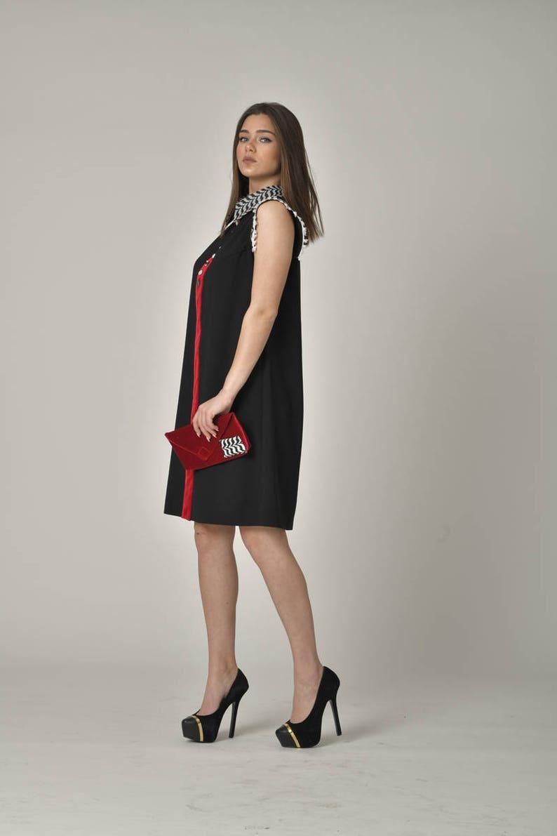 2a2c8664e88 PLUS SIZE Little Black Dress / Stylish High Nick Midi Party Designer Comfy  Dress / Casual Loose Flowy Dresses / Summer Street Style Wear