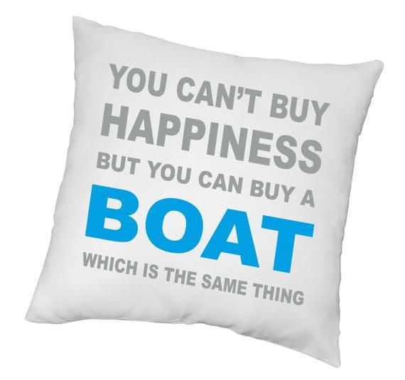 Happiness Boat Cushion Novelty Sail Pillow Sailing Boating  af81e43665a0